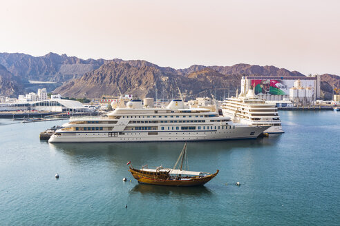 Ships in Port Sultan Qaboos, Mutrah, Oman - WV01243