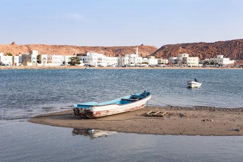 Fishing boats at Sur bay, Sur, Oman - WVF01267