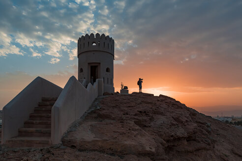 Watch tower of Ayjah Castle, Sur, Oman - WVF01279