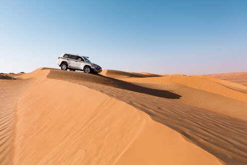 Sultanate Of Oman, Wahiba Sands, Dune bashing in an SUV - WVF01306