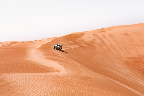 Sultanate Of Oman, Wahiba Sands, Dune bashing in an SUV - WVF01321