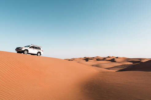 Sultanate Of Oman, Wahiba Sands, Dune bashing in an SUV - WVF01372