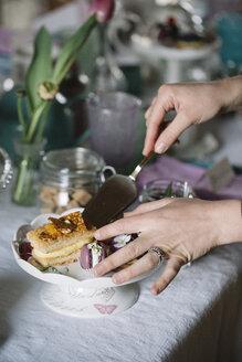 Limana, Veneto, Italy, spring tea time with pastry - ALBF00855