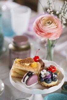 Limana, Veneto, Italy, spring tea time with pastry - ALBF00858