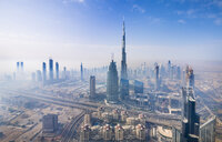 United Arab Emirates, Dubai, cityscape with Burj Khalifa - HSIF00489