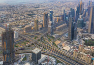 United Arab Emirates, Dubai, cityscape with Sheikh Zayed Road - HSIF00495