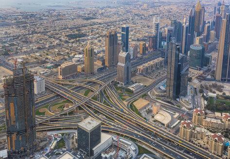 United Arab Emirates, Dubai, cityscape with Sheikh Zayed Road - HSIF00495