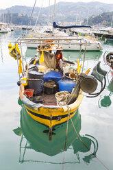 Italy, Liguria, Cinque Terre, fishing boat - HSIF00534