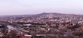 Georgia, Tbilisi, cityscape with Holy Trinity Cathedral - ALRF01437