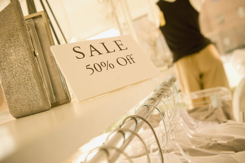 Sale sign in clothing store - BLEF00037