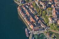 Germany, Baden-Wuerrttemberg, Lake Constance, Meersburg, Uberling Lake, townscape, aerial view - SH02149