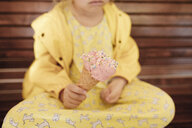 Little girl with ice cream cone, close-up - KMKF00869