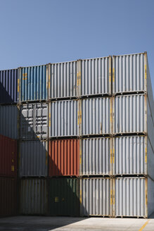Stack of containers on industrial site - AHSF00164