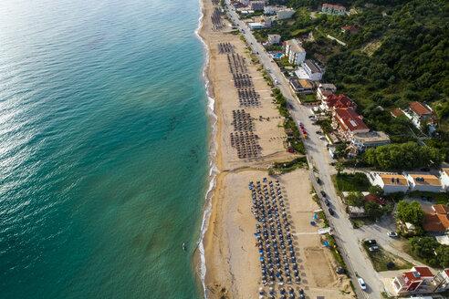 Greece, Preveza, aerial view of Vrachos Beach - TAMF01331