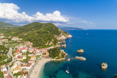 Greece, aerial view of Parga - TAMF01340