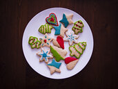 Christmas cookies on plate - BLEF00905