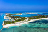 Maledives, South Male Atoll, Olhuveli, aerial view - AMF06967