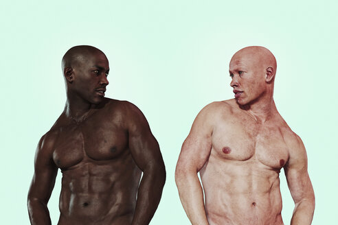 Similar men with different skin colors - BLEF01503