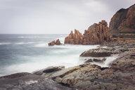 Italy, Sardinia, Tortoli, Arbatax, rocks in the surf - FCF01738