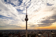 Germany, Berlin, television tower at twilight - PUF01411