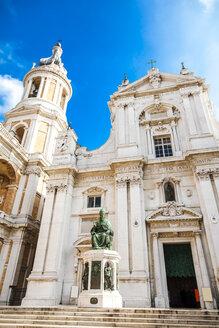 Italy, Marche, Loreto, low angle view of Basilica della Santa Casa, facade - FLMF00194