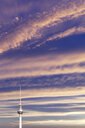 Germany, Berlin, view to television tower at sunset - PUF01423