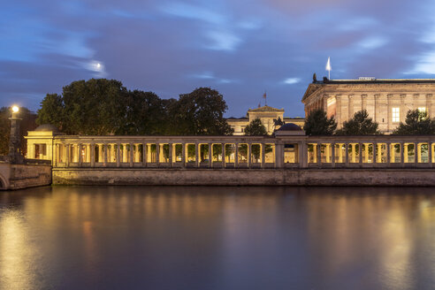 Germany, Berlin, view to lighted Old National Gallery at night - TAMF01419