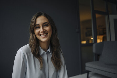 Portrait of happy young businesswoman - KNSF05767