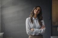 Portrait of confident young businesswoman - KNSF05791