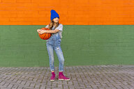 Young girl with basketball - ERRF01226