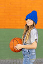 Young girl with basketball - ERRF01232