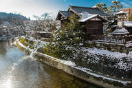 Scenic view of Takayama in winter, Gifu, Japan - CUF50785