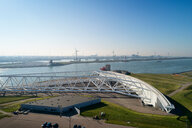 Maeslantkering storm surge barrier, Hoek van Holland, Zuid-Holland, Netherlands - CUF50854