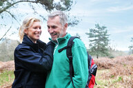 Couple in forest, Tunbridge Wells, Kent, United Kingdom - CUF51043