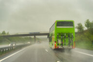Motorway during rain, coach - FRF00832