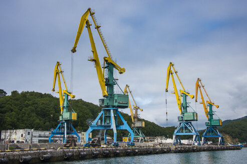 Loading cranes in the habour of Petropavlovsk-Kamchatsky, Kamchatka, Russia - RUN01999