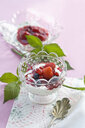 Red Fruit Jelly and natural yoghurt in glass bowl - ASF06408