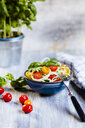 Zoodles salad with tomatoes and basil - SBDF03948