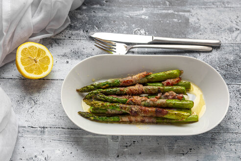 Green asparagus with bacon and lemon butter sauce - SARF04271