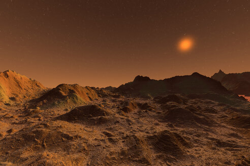 3D rendered Illustration of the surface of Planet Mars - SPCF00408