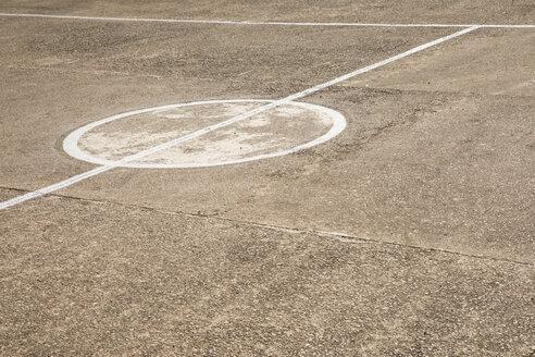 Spanien, Sportplatz, Markierung, Beton - JMF00445
