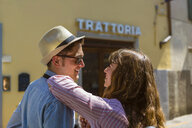 Young couple on a city break in Florence, Tuscany, Italy - MGIF00447