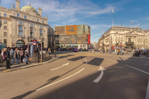 Piccadilly street by Picadilly Circus with Piccadilly institute in the background - TAM01474