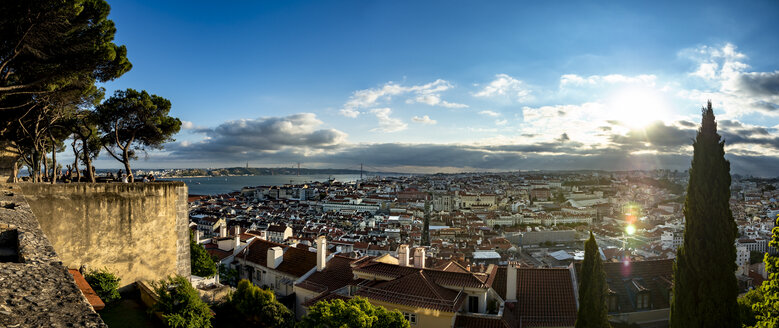 View over the city with Tejo River from Miradouro da Nossa Senhora do Monte, Lisbon, Portugal - AMF07021