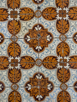 Detail of a tiled house front, Lisbon, Portugal - AMF07024