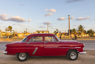 Parked red vintage car, Havana, Cuba - HSIF00595