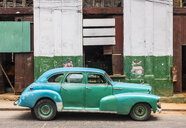 Repaired vintage car, Havana, Cuba - HSIF00604