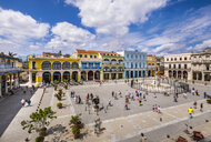 View to Plaza Vieja from above, Havana, Cuba - HSIF00631