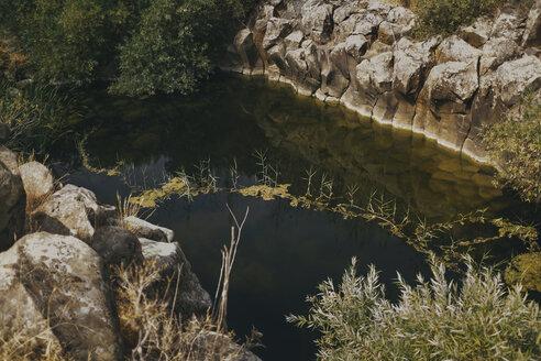 A pond in a canyon, Yehudiya National Park, Israel, Golan, Yehudiya - GCF00255