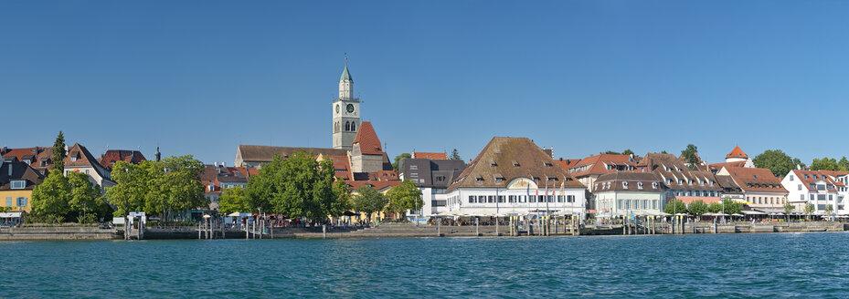 Deutschland, Baden-Württemberg, Bodensee, Überlinger See, Überlingen, Promenade mit Greth und Münster vom Wasser aus - SH02191